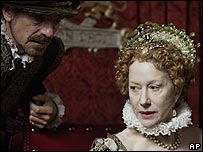 Dame Helen Mirren in Elizabeth I