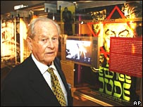 Retired general Bjoern Egge inside the Holocaust centre in Oslo