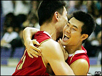Yao Ming and Wang Shipeng
