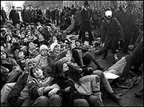 Women held a peace vigil at Greenham Common for 19 years