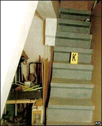 Stairs leading down to where Natascha Kampusch was hidden