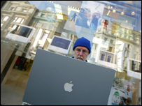 Apple laptop user