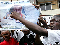 Bemba supporter in Kinshasa