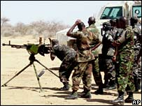 AU troops in training in Darfur