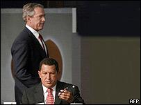 George W. Bush y Hugo R. Chávez