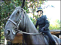 Policewoman on horse