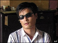 Activist Chen Guangcheng, jailed for over four years