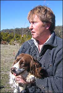 Duncan Garvey and his English springer spaniel Pickles
