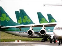 Aer Lingus aircraft - file photo