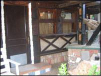 Front entrance of house built by Sammy Ansah