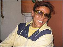 """""""Trina"""", travesti que ejerce la prostitución en Bogotá."""