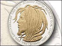 Bob Marley commemorative coin