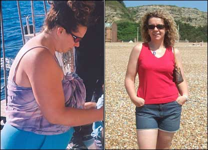 "Sandra Dibble has lost nearly four stone over two years through running and a weight-loss group. ""With that elusive stone to lose, I do the Great South Run next month."""