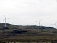 Artist's impression of the proposed wind farm at Edinbane
