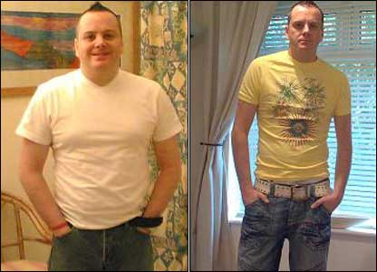 "Neill Christie-Hewitt ""I was nearly 14 stone so I decided to take action. I cut out all the rubbish I was eating, cut out alcohol and started going to the gym. I lost three stone."""