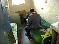 Prisoner in cell
