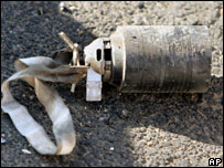 Unexploded cluster bomb found 100m from the main hospital in Tibnin, south Lebanon