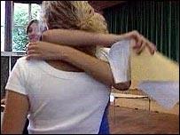 GCSE candidates celebrate success