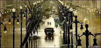Nueva Orleans inundada luego de Katrina