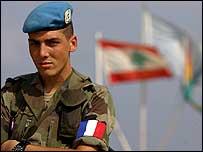 French UN peacekeeper in Lebanon