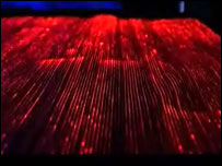 Fibre-optic clothing