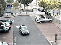 Peter Woodhams parks his car near the shops