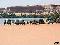 Picture from blog of the tourists' trek through Niger