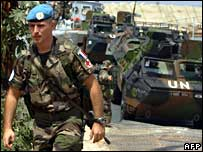 French UN soldier at southern Lebanese port of Naqura