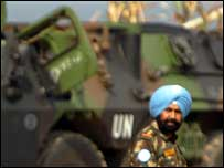 Indian UN soldier in southern Lebanon