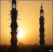 Mosque at sunset, Khartoum