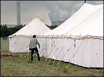 Protesters camp near Drax power station