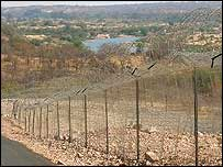 Border fence with view of Limpopo