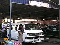 Taxi rank in Musina