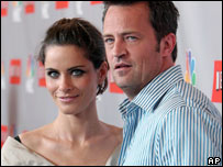 Amanda Peet and Matthew Perry