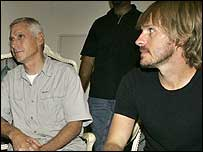 (left to right) American Steve Centanni and New Zealander Olaf Wiig