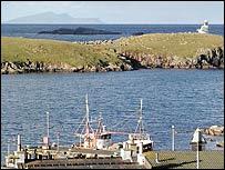 Hamnavoe harbour on Shetland's West Burra Isle