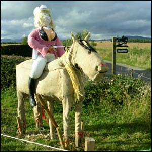 Dolly Parton scarecrow (picture by Duncan Kirkhope)