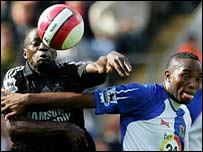 Chelsea's Claude Makelele and Blackburn's Benni McCarthy