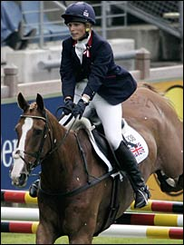 Zara Phillips held her nerve during the show-jumping to win gold in Aachen.