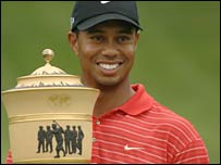Woods started the day in joint second place behind Cink
