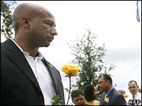 Mayor Ray Nagin at a Katrina memorial