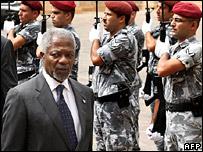 Kofi Annan in Beirut