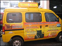 Special taxi for disabled people