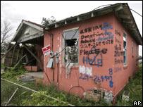 Hogar en ruinas en Nueva Orleans