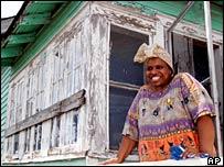 Mujer en Nueva Orleans