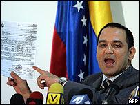 El ministro del Interior Jesse Chacón