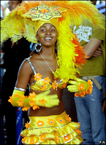 Performer at the Notting Hill Carnival