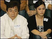 Jackie Chan with Gillian Chung