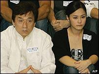 Jackie Chan with Gillian Chung