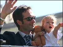 Michael Vaughan and his daughter